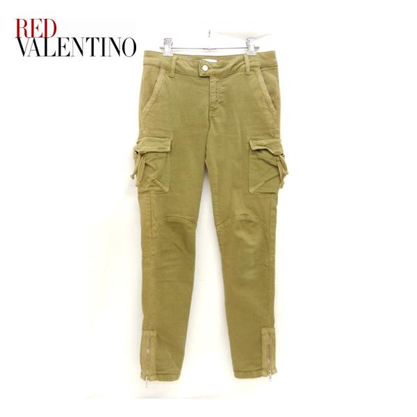 【RED VALENTINO】レッドヴァレンティノ バレンチノ パンツ スキニーカーゴパンツ カーキ オリーブ【中古】