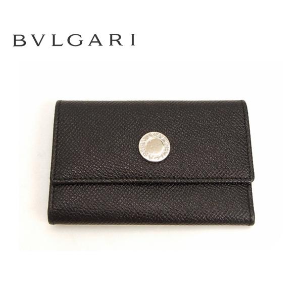 【BVLGARI】CLASSICO ブルガリ クラシコ 6連キーケース グレインレザー 革 ブラック 黒 【中古】