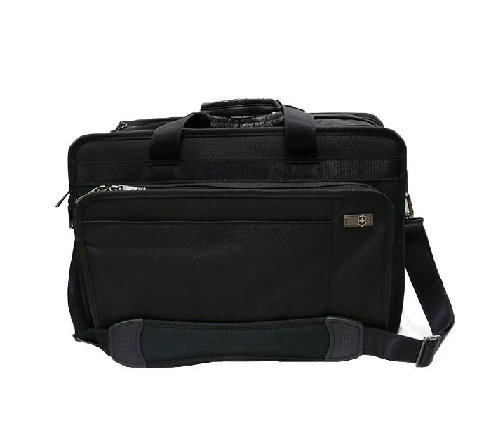 【VICTORINOX】ヴィクトリーノックス ビジネスバッグ ブリーフケース 収納力抜群 書類 鞄 #31322601 BLACK 【中古】RC0426