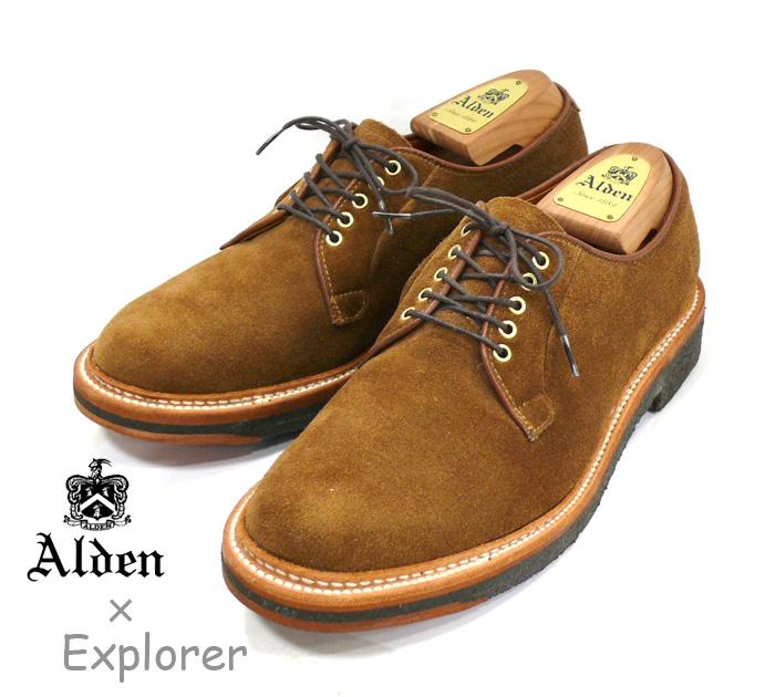 【ALDEN×Explorer】オールデン×エクスプローラー別注 #N4408 スナッフスウェード プレーンオックスフォード サイズ8D RM0646 【中古】