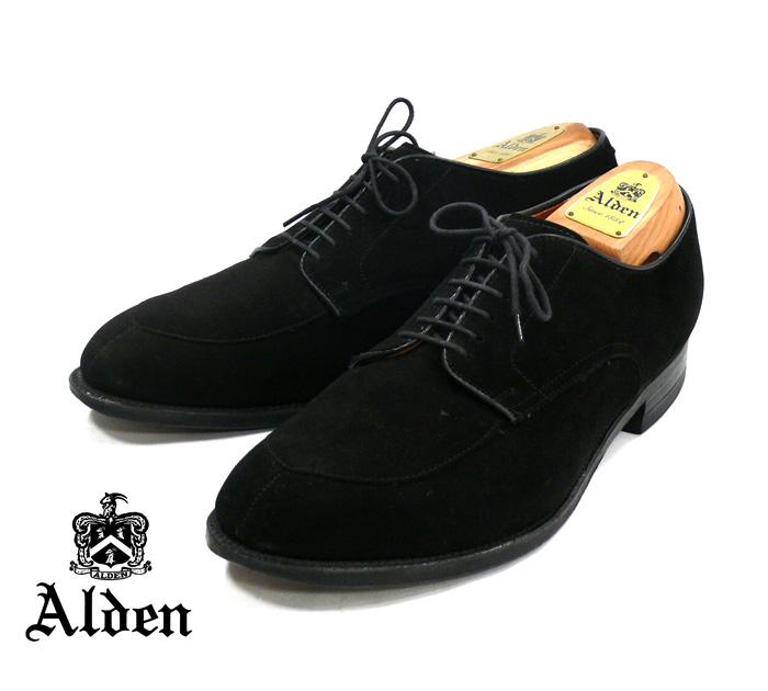 【Alden×UNITED ARROWS】オールデン×ユナイテッドアローズ別注 スウェード Vチップ #54357 シューズ ブラック サイズ10D RM0653 【中古】