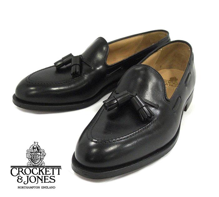 【CROCKETT & JONES】クロケット&ジョーンズ タッセルローファー #375 キャベンディッシュ3 サイズ8E ブラック メンズ 男性用 イギリス製 革靴 未使用 箱 RM2040【中古】【新古品】