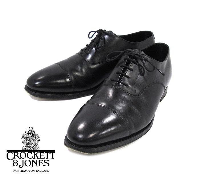【CROCKETT & JONES】クロケット&ジョーンズ KENT ケント ストレートチップ サイズ8 1/2 E ブラック 黒 メンズ 男性用 イギリス製 革靴 RM2071【中古】