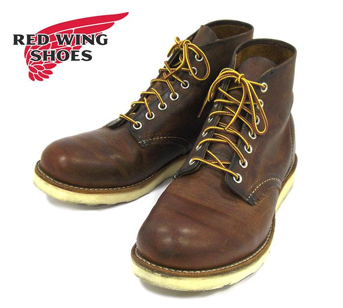 【REDWING】レッドウィング #9111 カッパー ラフ&タフ ブーツ レザー サイズ9D 27cm ブラウン メンズ 男性用 USA 革靴 RM2226【中古】