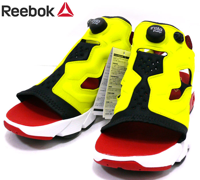 Reebok リーボック インスタポンプフューリーサンダル EF 2922 サイズ27cm イエロー 黄色 メンズ 男性用 靴 シューズ 未使用タグ付き RC1912yYIfgv7b6