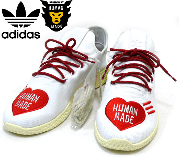 【adidas by PHARRELLWILLIAMS×HUMAN MADE】アディダスファレルウィリアムズ×ヒューマンメイド 28cm テニスヒュー 靴 タグ付き未使用 RC2123【中古】