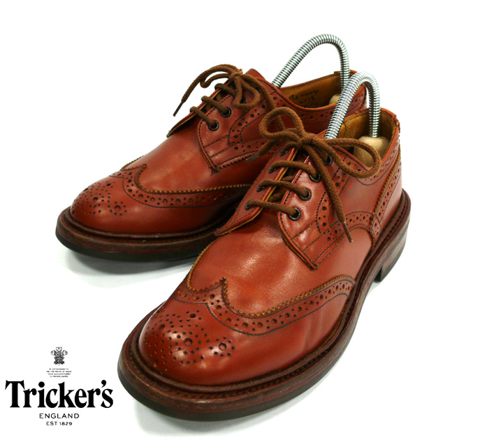 【Tricker's】トリッカーズ カントリーシューズ L6518 ウイングチップダイナイトソール サイズ4H 靴 レディース 女性用 made in ENGLAND 英国 RM0913 【中古】
