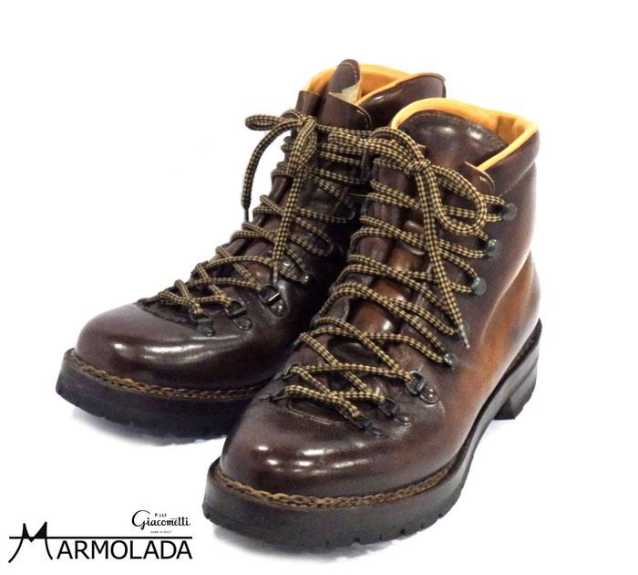 【MARMOLADA】マルモラーダ マウンテンブーツ FG105 サイズ42 マロン トレッキングシューズ 革靴 メンズ ITALY RM1069 【中古】