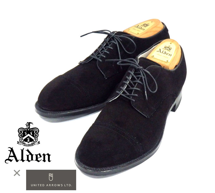 【ALDEN】オールデン×ユナイテッドアローズ別注 #56257 サイズ8D キャップキッドスエード モディファイドラスト ドレスシューズ 紳士靴 メンズ 未使用品 RM1109 【中古】【未使用品】