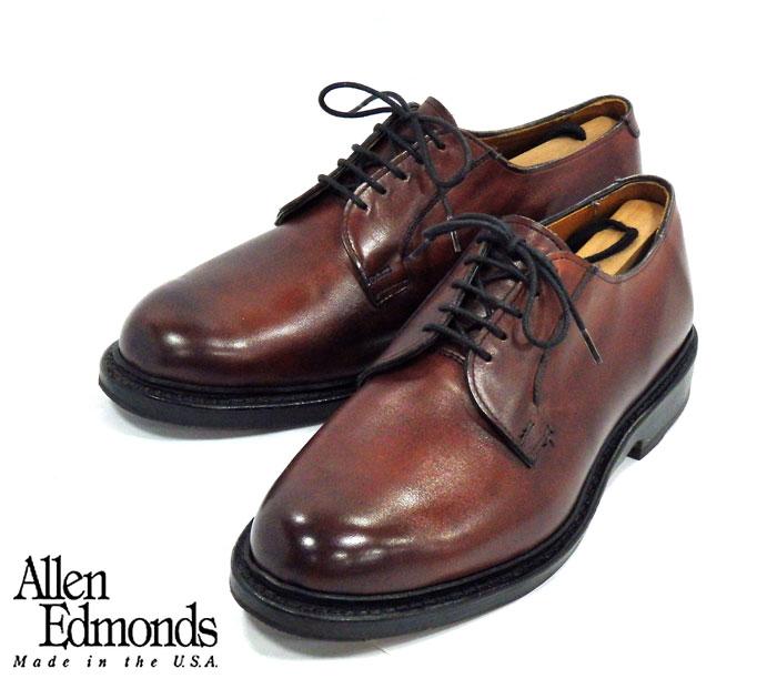 【Allen Edmonds】アレンエドモンズ LEES2.0 オックスブラッド プレーントゥ サイズ6.5E レザー ビジネス ドレスシューズ made in USA RM1111 【中古】