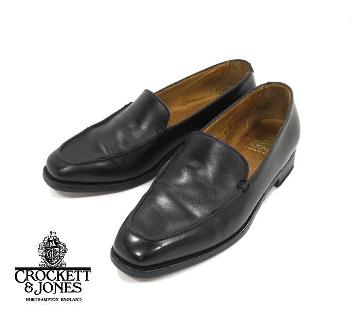 【CROCKETT & JONES】クロケットジョーンズ ヴァンプローファー FULMER フルマー サイズ 5C ブラック 黒 レディース 革靴 RM1566【中古】