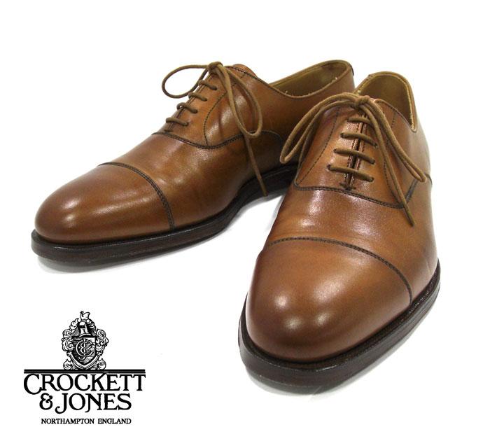 【CROCKETT&JONES】クロケットジョーンズ DORSET2 ドーセット2 #6265 キャップトゥ サイズ 5 1/2 E ドレスシューズ 紳士靴 メンズ イギリス製 RM1686【中古】