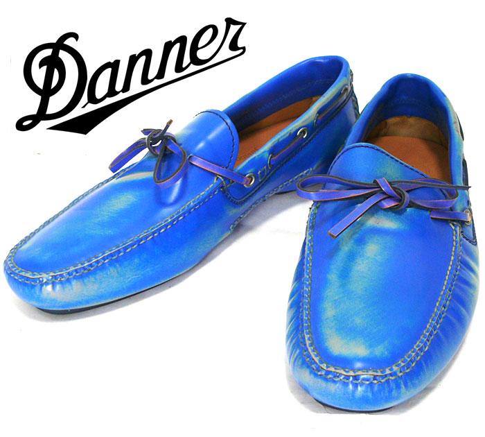 【Arfango】アルファンゴ エナメルウォッシュ加工 ドライビングシューズ 約26cm ブルー 青 サイズ8 レザー 本革 男性用 メンズ 靴 RC0905 【中古】