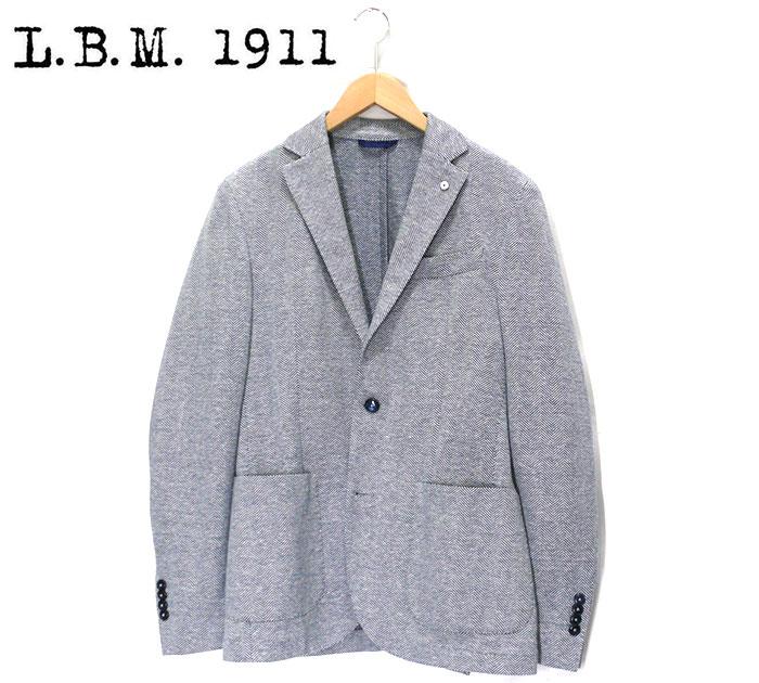 【L.B.M1911】エルビーエム LBM シングルテラーリングジャケット サイズ48 約M イタリア製 美品 メンズ 男性用 アウター トップス RC1020【中古】