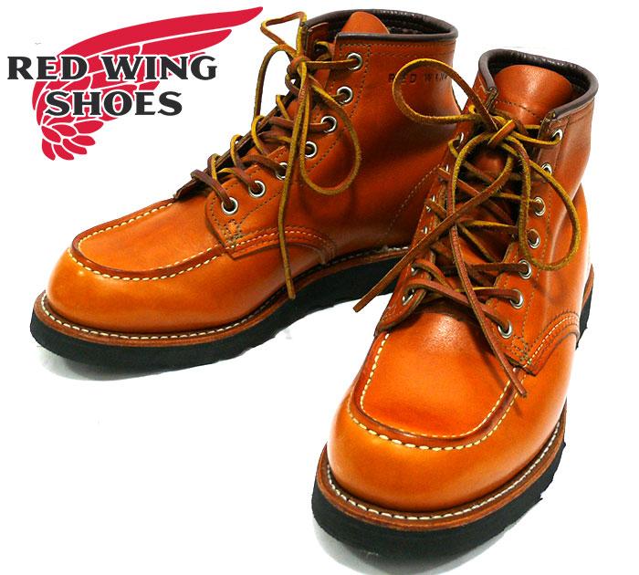 【【RED WING】レッドウィング ゴールドラセットモックトゥ サイズ7 1/2E 約25.5 アメリカ製 メンズ 男性用 靴 ワークブーツ アメカジ レザー 本革 #09875-0 RC1030【中古】