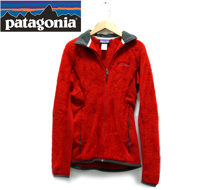 【patagonia】パタゴニア サイズXS レディース フリースジャケット 赤 レッド アウター 長袖 女性用 RC1499【中古】