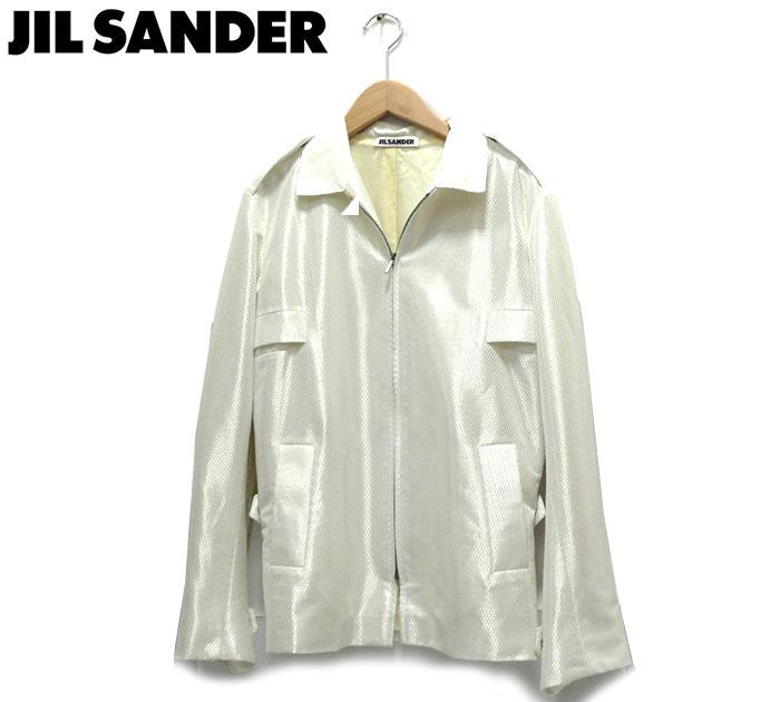【JILSANDER】ジルサンダー ドイツ製 サイズ34 ZIPアップポリジャケット レディース 女性用 ホワイト 白 長袖 トップス RC1638【中古】