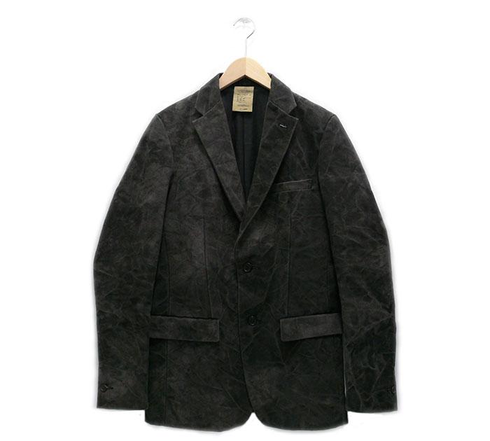 【ripvanwinkle】リップヴァンウィンクル 後染めコットンテーラリングジャケット グレー サイズS【中古】RA3949