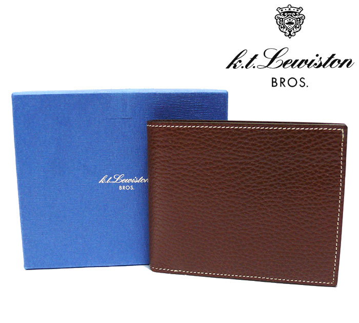 【K.T.Lewiston】 K.T.ルイストン UNITED ARROWS別注 二つ折り財布 カーフ ウォレット ブラウン KTW-022 【中古】【新品同様】