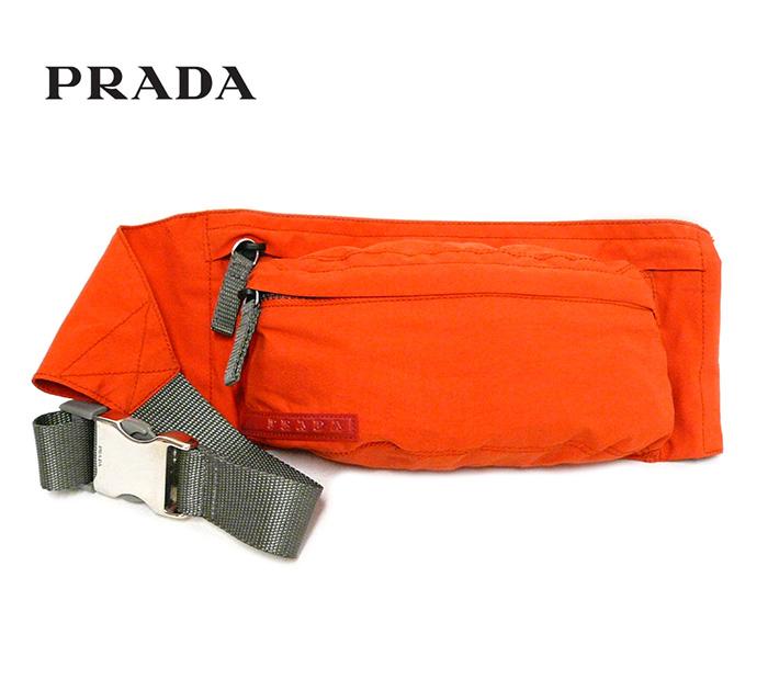 649d5368054e PRADA プラダ プラダスポーツ ナイロン ウエストポーチ ウエストバッグ ボディバッグ Art.4VA125 オレンジ×