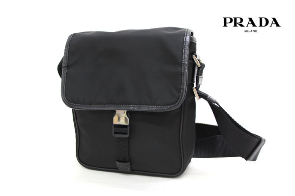【PRADA】プラダ V167 ナイロン ショルダーバッグ 黒 ブラック 美品【中古】