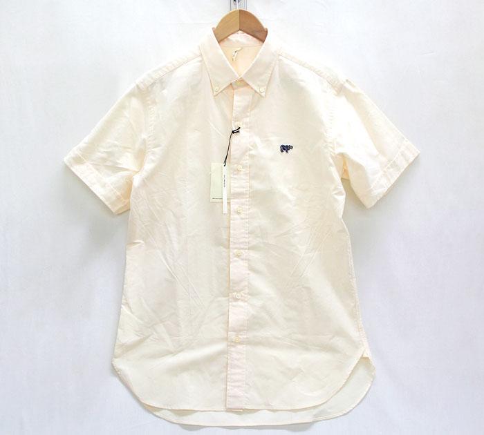 【SCYE BASICS】サイベーシックス オックスフォード ボタンダウン S/S シャツ サイズ40 イエロー 未使用 新古品【中古】