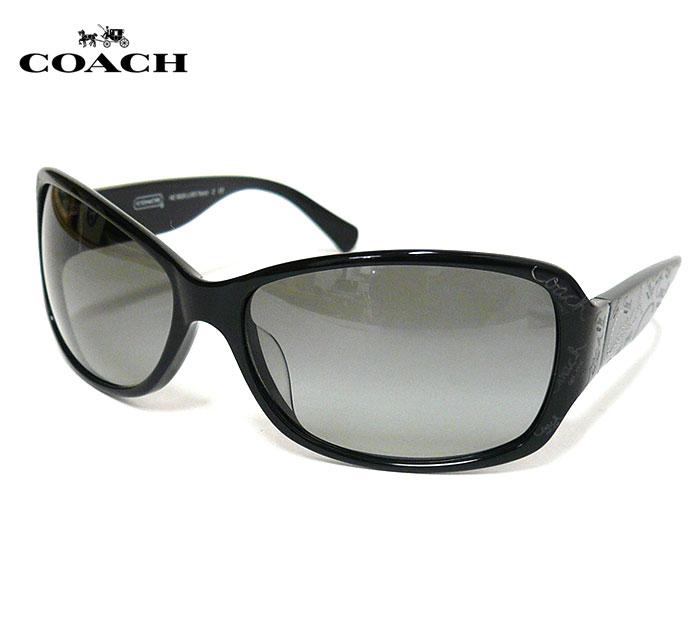 296e674626aa COACH コーチ サングラス ロゴ ブラック 黒 ケース付き HC 8028(L903 Taryn)