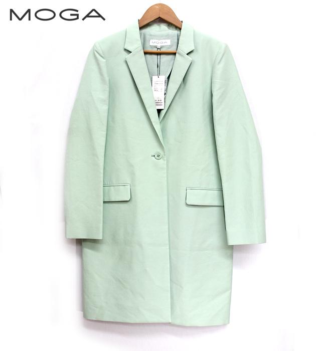 【MOGA】モガチェスターコート サイズ3新品・未使用 パステルグリーン FA0110【中古】