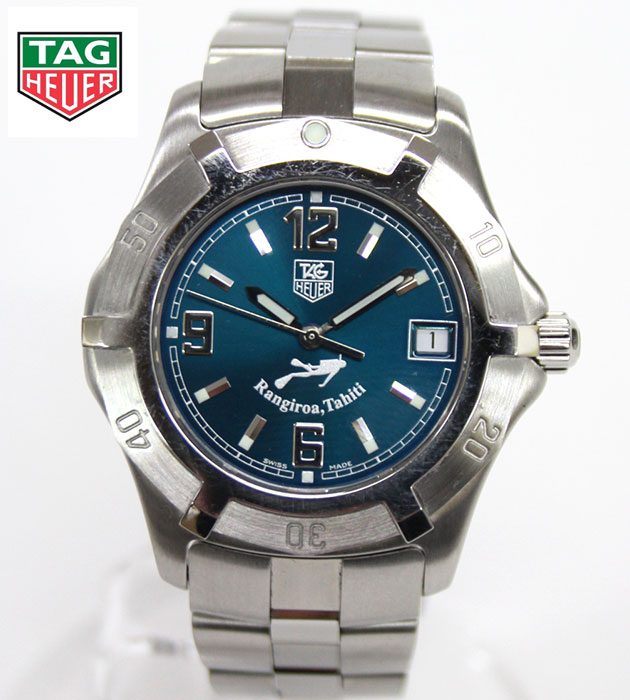 【TAGHEUER】タグホイヤー 2000エクスクルーシブ ランギロア世界3000本 タヒチ限定モデルWN111A クオーツ 腕時計 デイト 鏡面仕上げ 【中古】FA0150