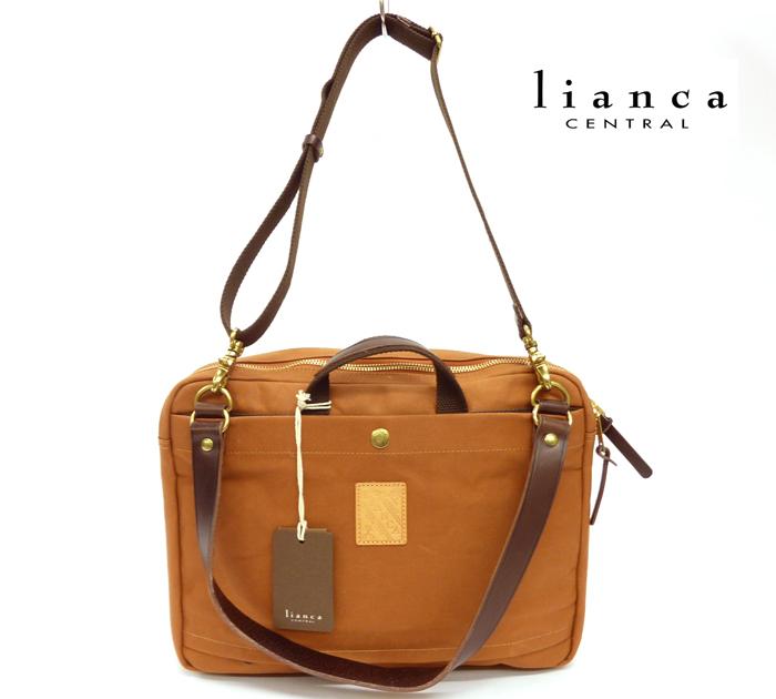 【LIANCA CENTRAL】リアンカ セントラル3way ビジネスバッグキャメル 2気室【新品】FF0071