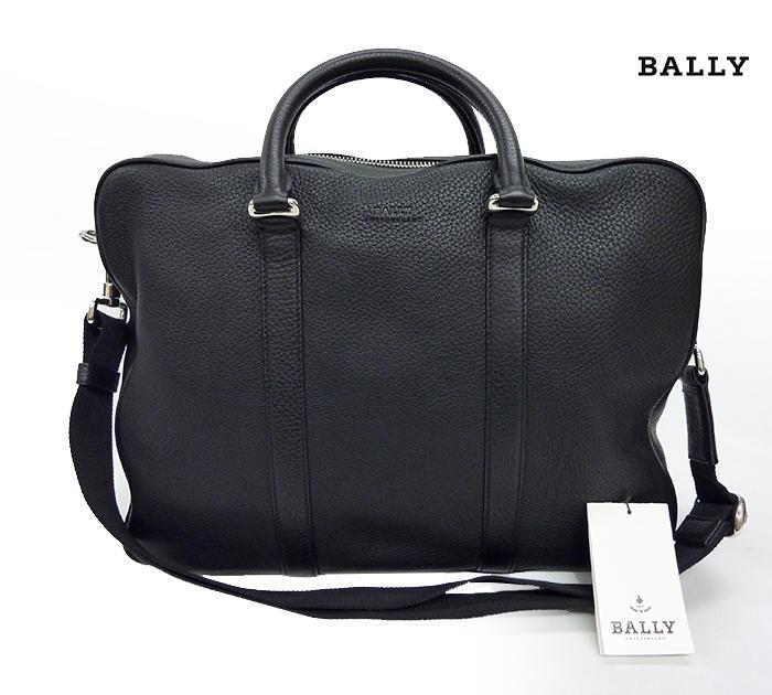 【BALLY】 バリー2way ビジネスバッグ ブリーフケース メロディー カーフレザー 牛革 ブラック 保存袋付【極美品】【中古】 FF0642