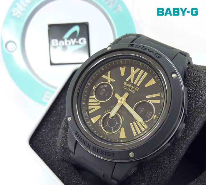 【CASIO】【BABY-G】カシオ ベビージー ビックフェイス 腕時計 レディース BGA-153 デジアナ ラバー カシオ 箱・ケース付き 美品【中古】FF0831