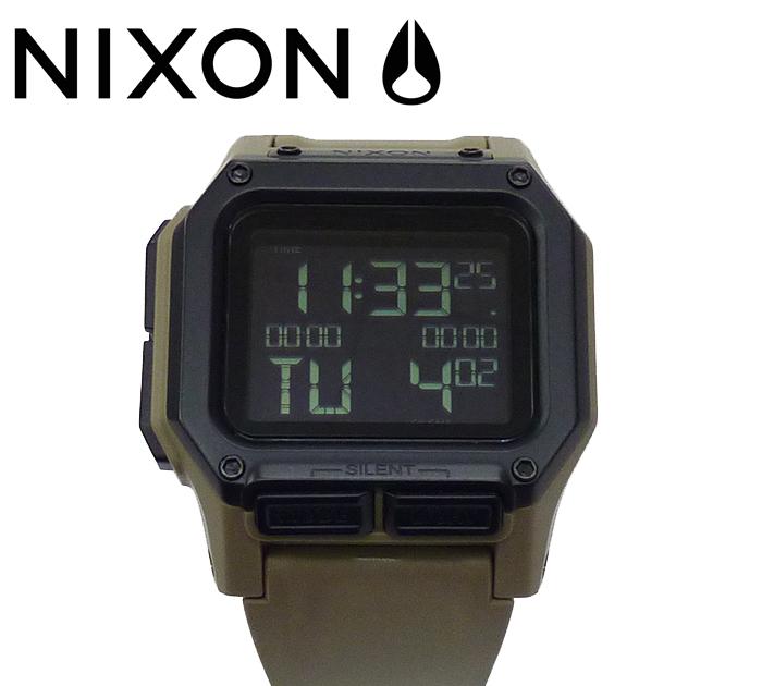 【NIXON】ニクソンREGULUS レグルス 腕時計 メンズ デジタル ウォッチ NA11802711-00 ALL SAND 【美品】【中古】 FF1001