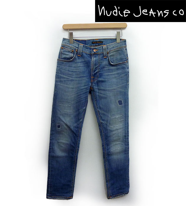 【Nudie Jeans】ヌーディージーンズTOMMY REPULICA THIN FINN ストレッチ スキニー ダメージ加工 デニム W29【中古】FF1007