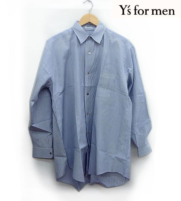 【Y's for men】ワイズ フォーメン長袖 シャツ オーバーサイズ ビックシルエット シェルボタン 【中古】FF1008