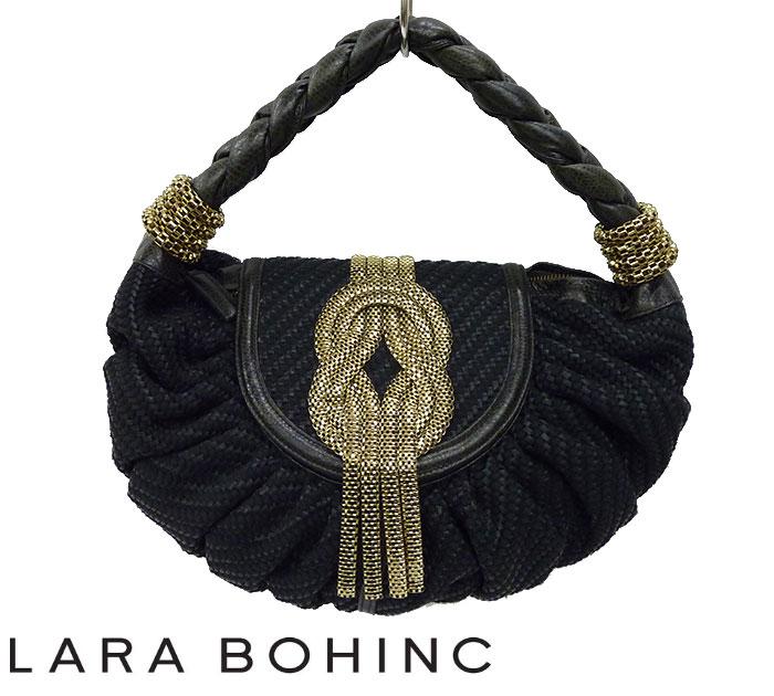 【Lara Bohinc】ララボーヒンク ハンドバッグ パーティバッグ ブラック 良品 【中古】FF0887