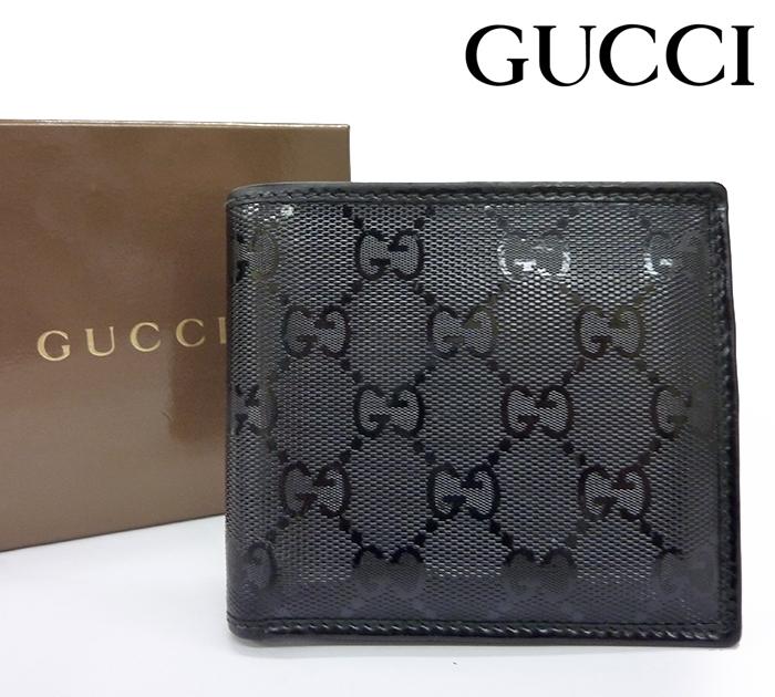 【GUCCI】グッチ GG インプリメ 二つ折り 財布 224122 コンパクト ウォレット ブラック【中古】FF0971