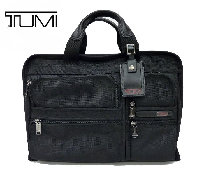 【TUMI】トゥミ2WAY ビジネスバッグ ブリーフケース ショルダー付き 263108D4 ブラック【中古】FF0983