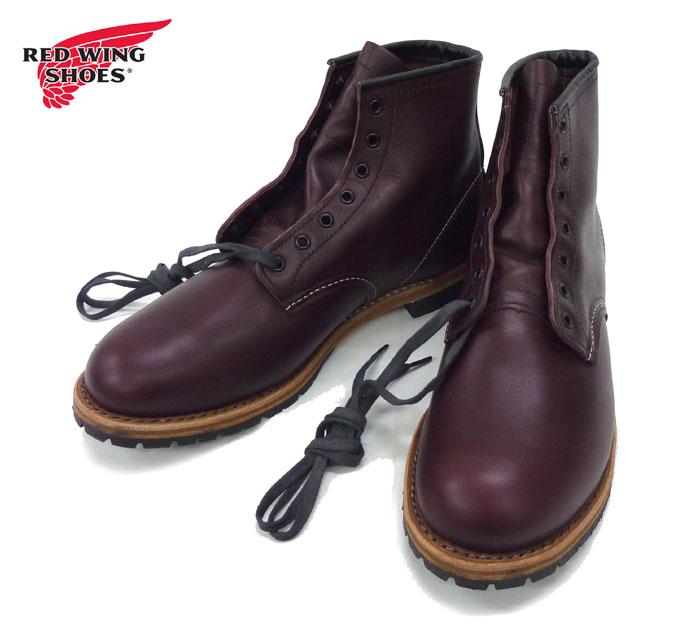 【RED WING】レッドウイング 9011 ベックマン ラウンドトゥブーツ サイズ9.5D 27.5cm ブラックチェリー 靴 シューズ 箱付き レザーシューズ 靴【中古】FB0515