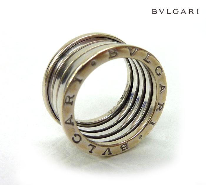 【BVLGARI】ブルガリB-ZERO1 ビーゼロワンネックレストップリング 指輪K18WG 750 18金ホワイトゴールド #58 サイズ17号 廃盤【中古】FB0430