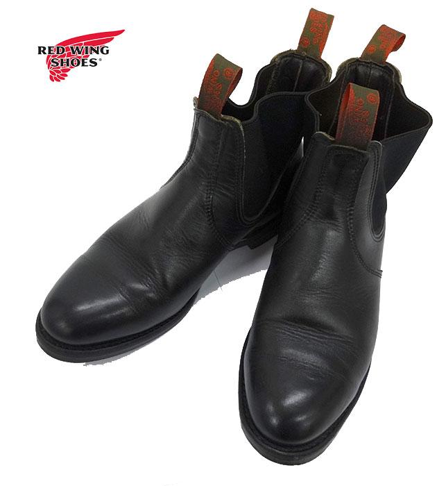 【RED WING】レッドウイング 8193 サイドゴア ブーツ 9 1/2 廃盤モデル ブラック 黒 【中古】FF1972