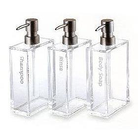 アクリルディスペンサー rectangle shampoo bottle