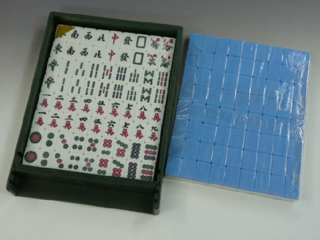 全自動麻雀牌【スパイダー】専用牌・青色
