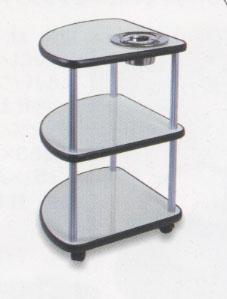 麻雀卓用サイドテーブル【TS-33(グレーベージュ)灰皿付き】送料込み