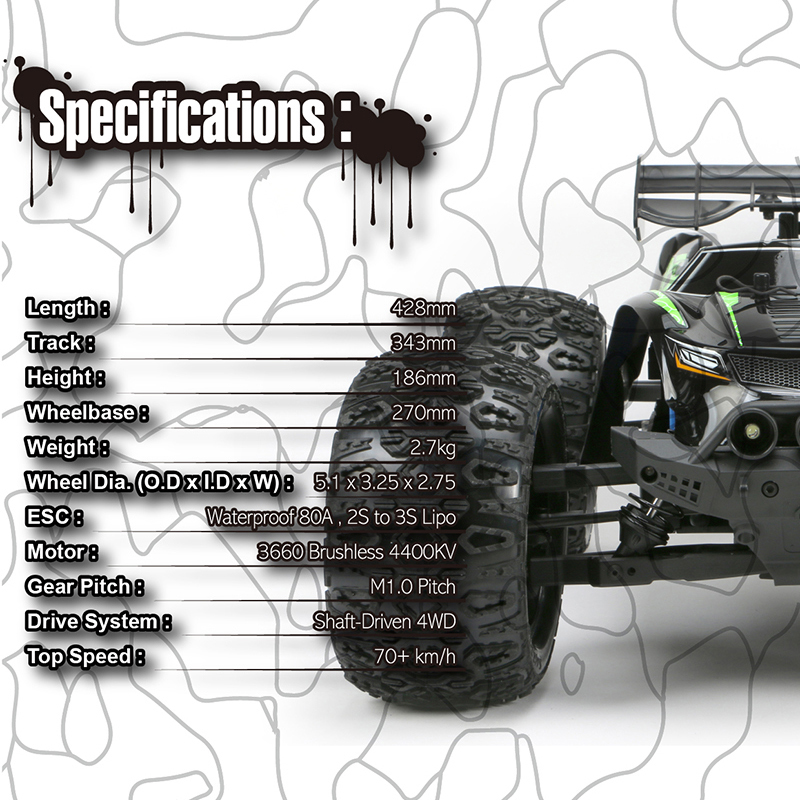 A new car model comes up in team magic E5 HX Racing Monster Truck RC car  body + professional posset brushless motor specifications extreme  popularity