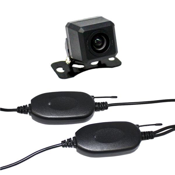 バックカメラ ワイヤレスセットCCDセンサー・170°レンズ正像・鏡像切替ガイドラインON/OFF送受信機セットで、わずらわしい配線も不要!