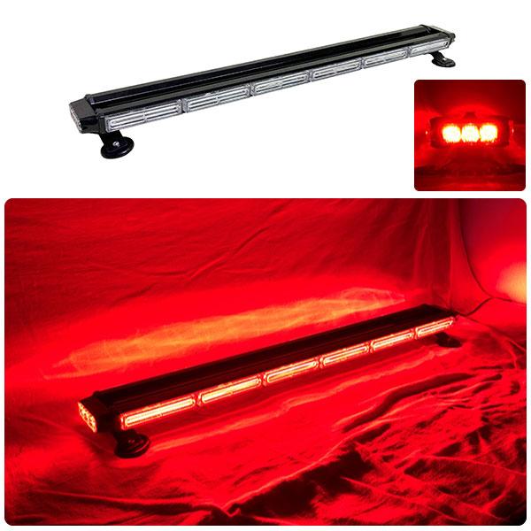 【94.5cm】LED 回転灯 バータイプ【レッド】COBチップ採用で明るい・鮮やか!バーのサイドにもLEDを装着!より周囲への注意喚起を促せます!WB8236-6S