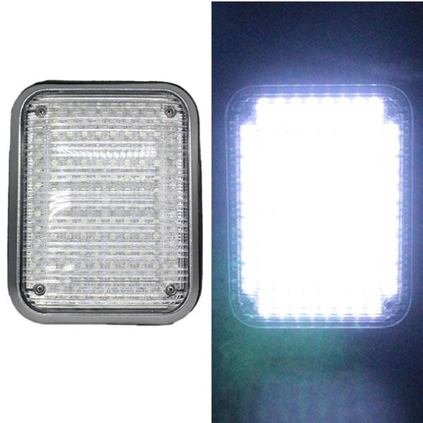 側面用 LED 大型ストロボライト【ホワイト】27 x 21.2 x 2.7 cmのユニットタイプ警告灯に・LEDドレスアップに!KM111-white