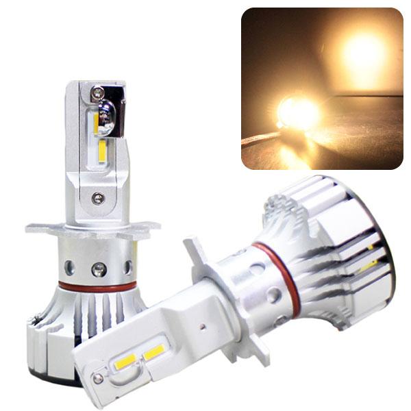 LEDヘッドライト【702K・電球色】『F2』LEDバルブ 6000lm 4300KCREE製チップ使用!ファン一体型で小型・簡単取付!