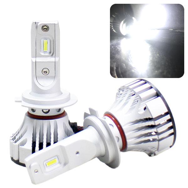 LEDヘッドライト『F2』【H7】ファン一体タイプ6000lm 6500KCREE製チップ使用!ファン一体型で小型・取付簡単!